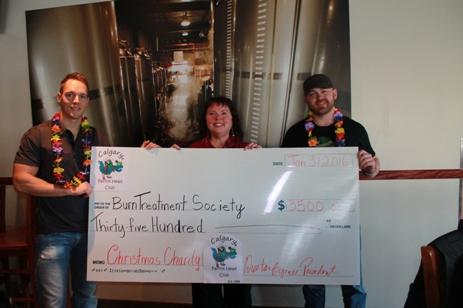 Calgary Parrot Head Club - Funds raised for Calgary Firefighter Burn Treament Society