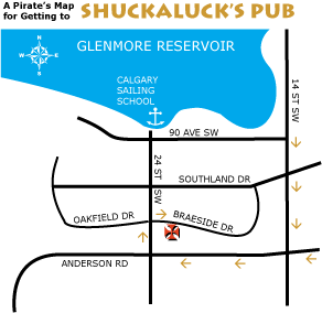 Getting to Shuckaluck's Pub