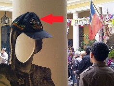 Traveling Hat in Santiago Chile - National Museum